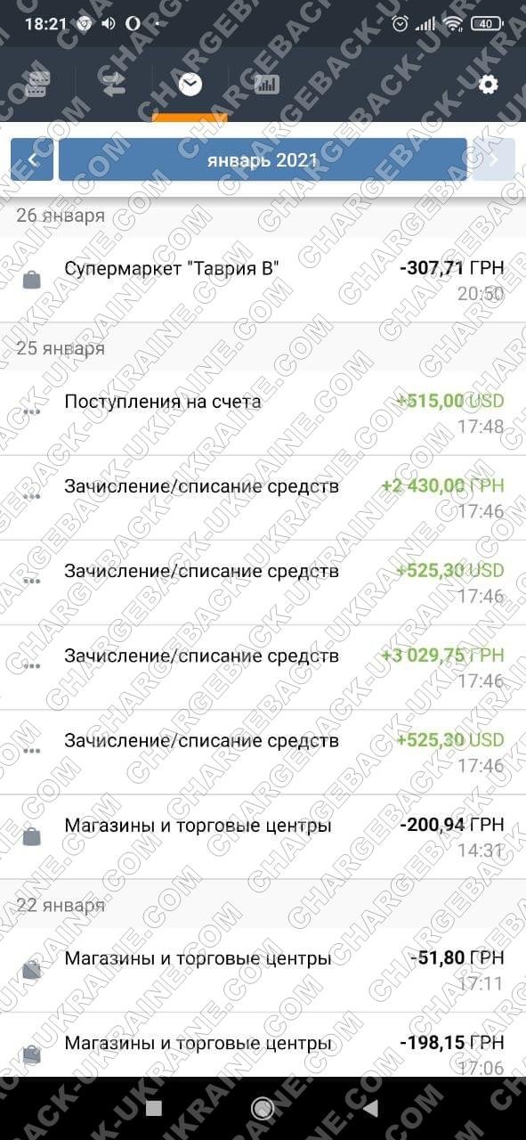 Поверенення 27 січня 2021 – 1565 доларів та 5459 гривень з tradershome