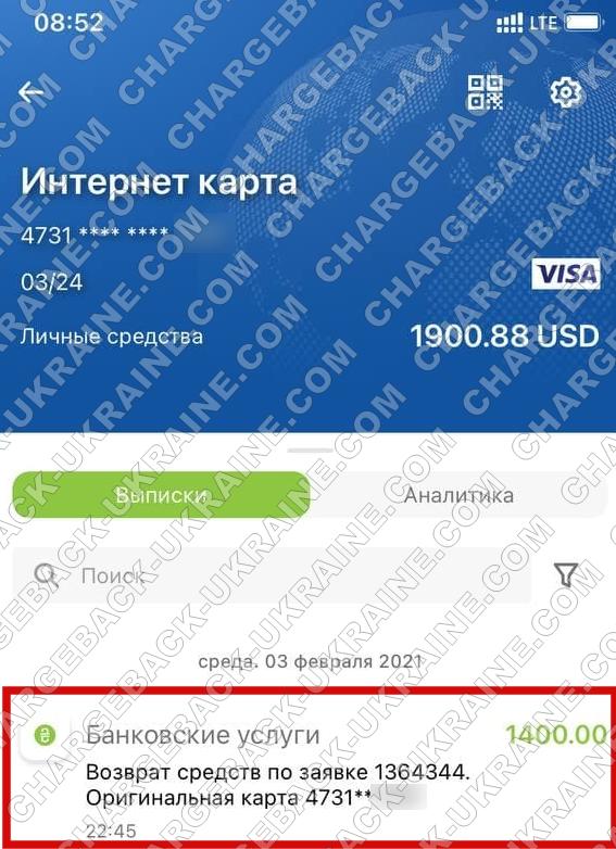 Поверенення 4 лютого 2021 – 1400 доларів з tradershome