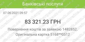 Поверенення 7 червня 2021 – 83 321 грн з TRADERSHOME