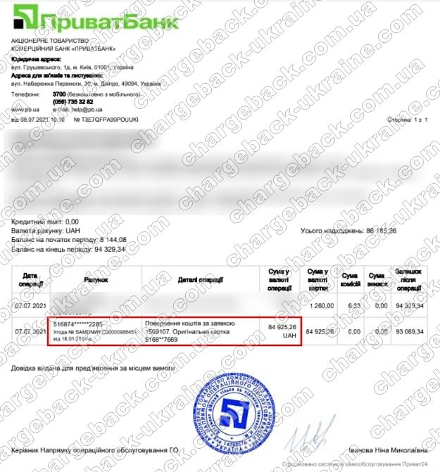 Поверенення 8 липня 2021 – 84 925 грн з TRADERSHOME