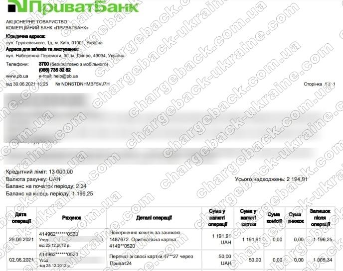 Поверенення 30 червня 2021 – 1 191 грн з lime fx