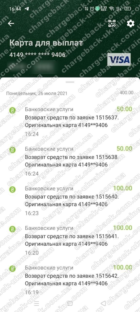 Поверенення 26 липня 2021 – 400 USD з Олимп Трейд-OLYMPTRADE.COM